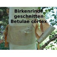 Birkenrinde geschnitten Betula cortex ph. Eur