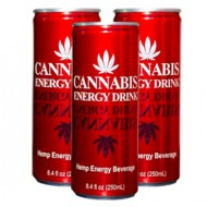 Cannabis Energy Drink 250 ml Himbeergeschmack mit Hanfextact auch als Tray