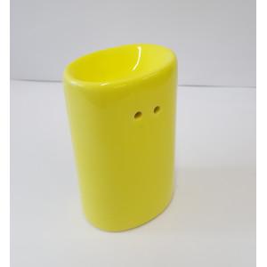 Duftlampe-Teelichtlampe  Keramik-Porzelan gelb