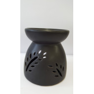 Duftlampe-Teelichtlampe  Keramiklampe schwaz-matt