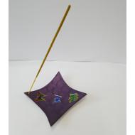 Räucherstäbchenhalter- Schale -  Metall - Lila lackiert