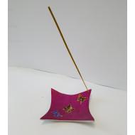 Räucherstäbchenhalter- Schale -  Metall - Pink lackiert