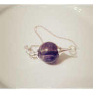 Amethyst Pendel -  mit Kette violetter Minerals Quarzpendel
