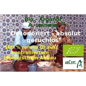 Arganöl Bio desodoriert geruchlos Argania Spinosa Bio kbA