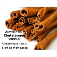 Zimtstangen Cassia Zimt ca. 8 cm Stangen Gewürz-Basteln Deko Top-Qualität