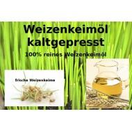 Weizenkeimöl kaltepresst Triticum vulgare reines Öl ohne Gentechnik