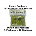 Coca Candy Bonbons mit echtem Coca Extrakt aus Peru 1Packung enthält 12 Bonbons
