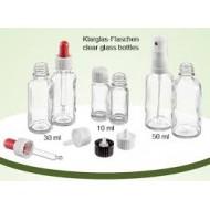 Klarglasflaschen 10 ml Größe ohne Verschluss