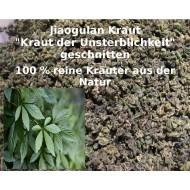 Jiaogulan Kraut  (Gynostemma pentaphyllum) geschnitten