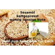 "Sesamöl kaltgepresst Sesamum indicum L 100% reine Öle von ""Mäc Spice"""
