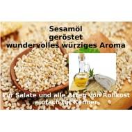 Sesamöl  gepresst u. geröstet Sesamum indicum reine Öle Mäc Spice