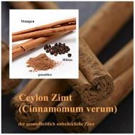 Zimtrinde ceylon (Cinnamomum verum) geschnitten kochen, backen und würzen