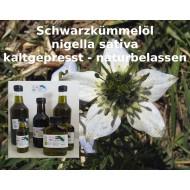 Schwarzkümmelöl kaltgepresst ungefiltert naturbelassen Nigella sativa