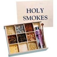 Räucher-Mischset Räucherharz-Geschenksortiment im edlen Holzkistchen Holy Smokes